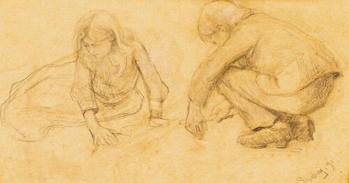 En pike og en gutt 1891