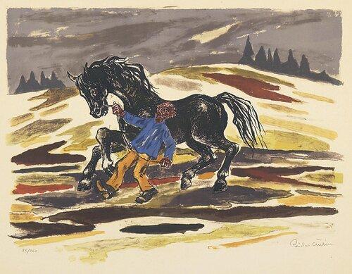 Mann med hest