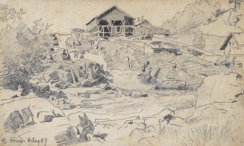 Studie fra Hønefoss 1887