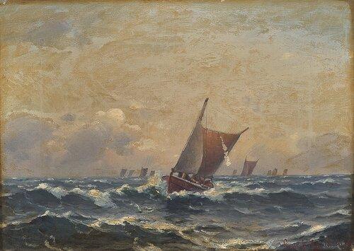 Seilbåter i rom sjø 1891