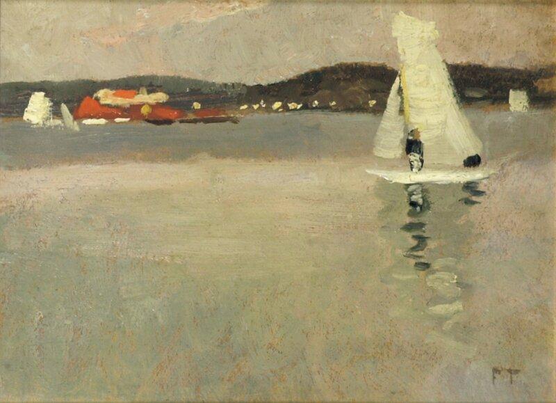Seilbåt ved kysten