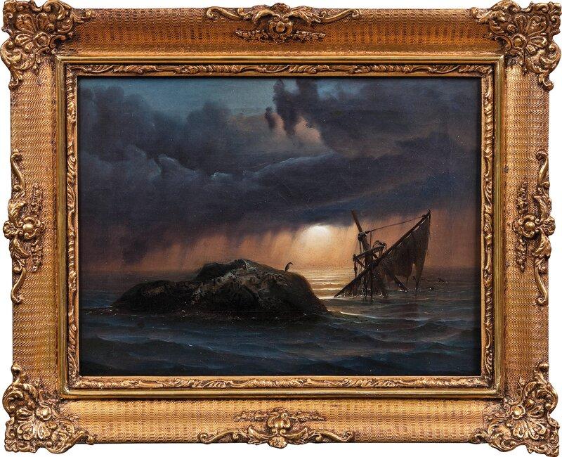 Skipsforlis med havsul 1845
