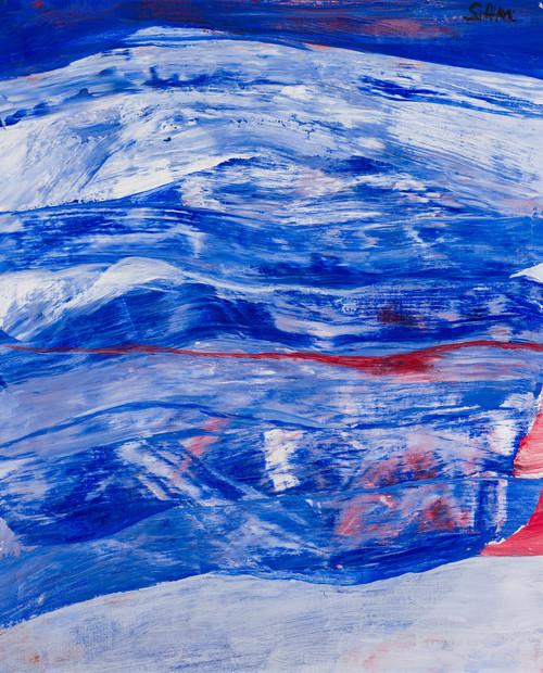 Blå komposisjon