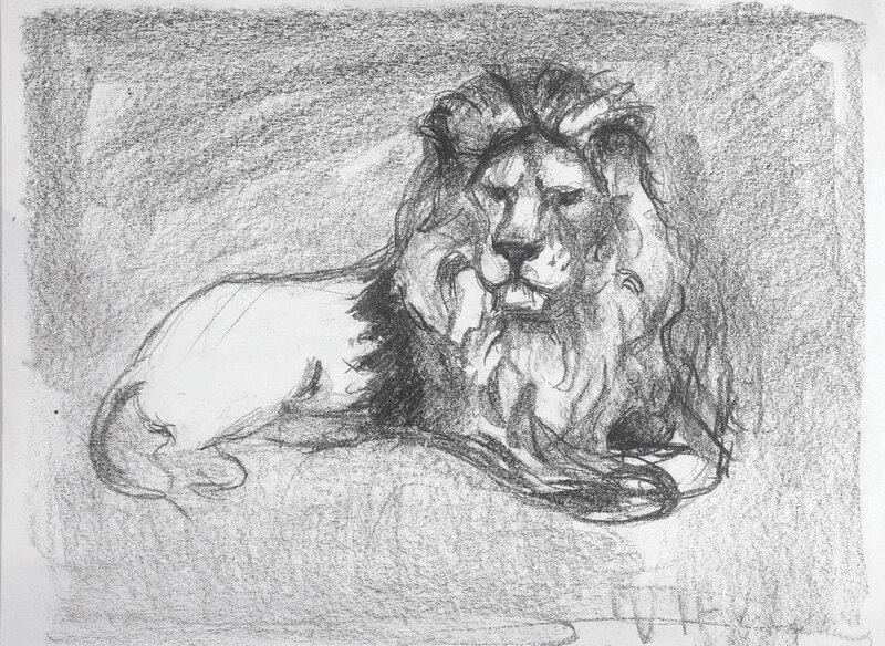 Liggende løve II