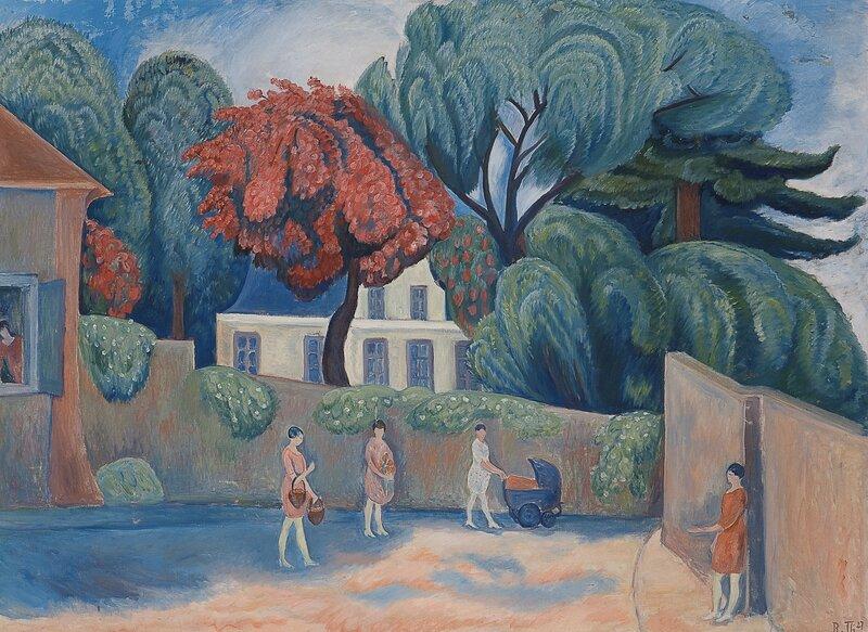 Kvinner i bygate, Palaiseau 1927