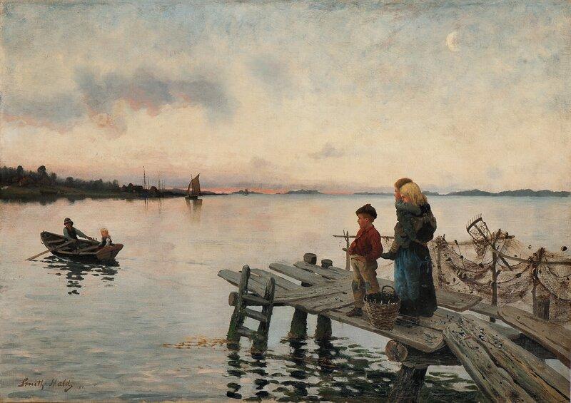 Aftenstemning på bryggen 1888