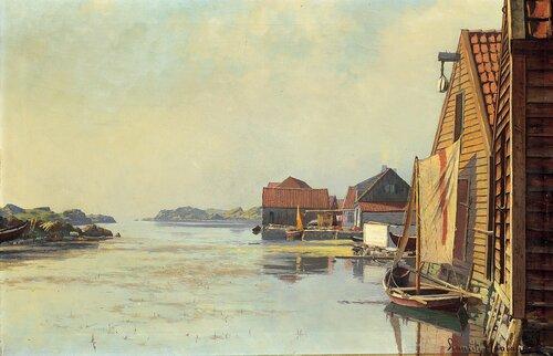 Losbåt i havn 1893