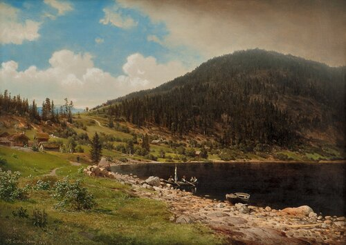 Mountain Landscape with Water 1869
