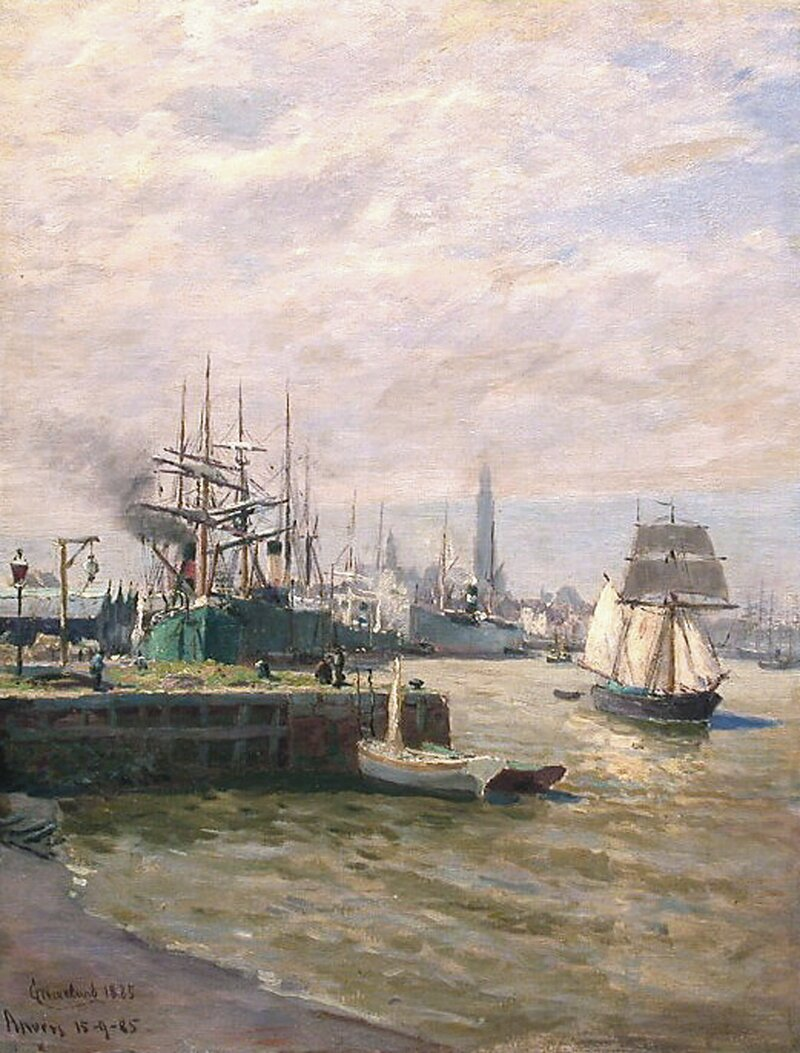 Havneparti, Anvers 1885