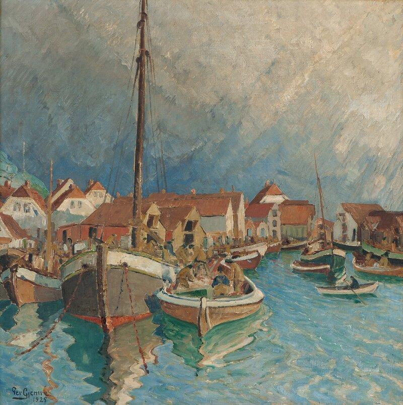 Fra Skudeneshavn, vinter 1925