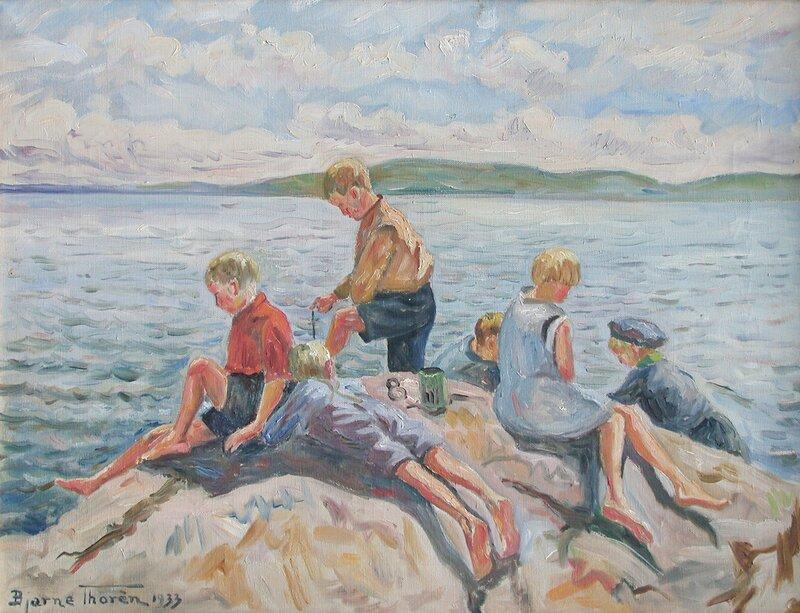 Barn på svaberg 1933