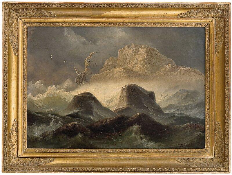 Storm ved den norske kyst 1846