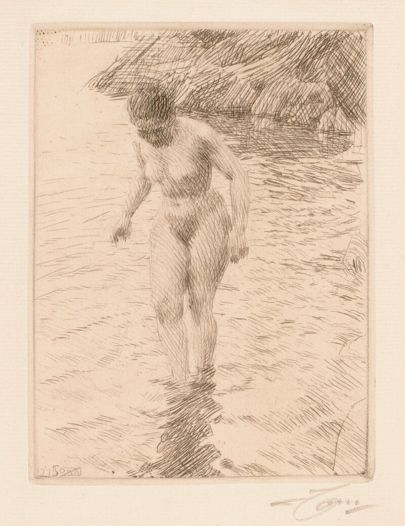 Badende kvinne 1915