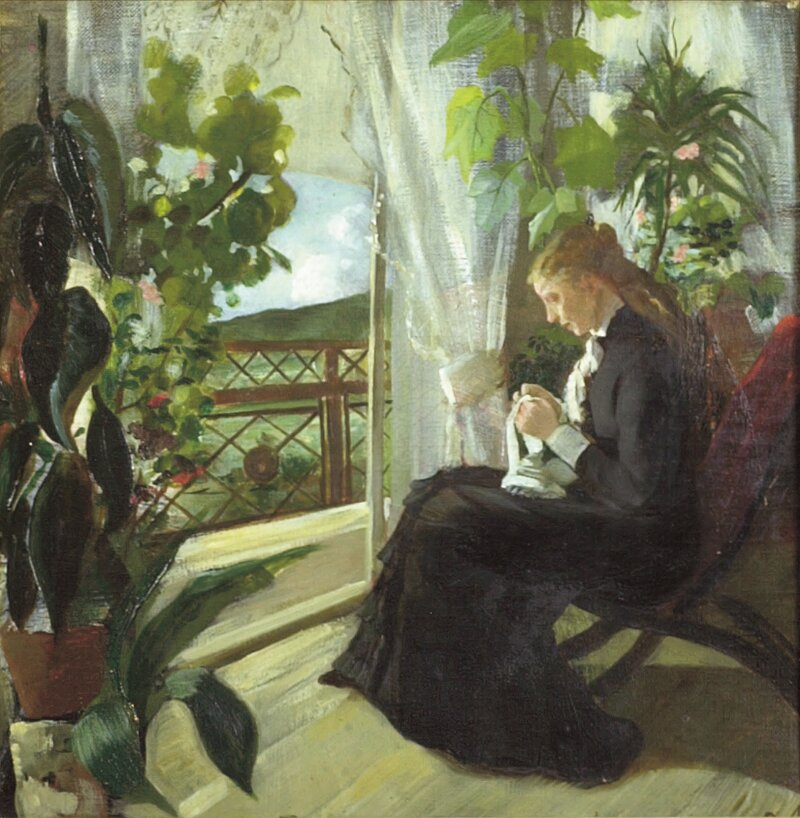 Kunstnerens søster Margrethe 1880