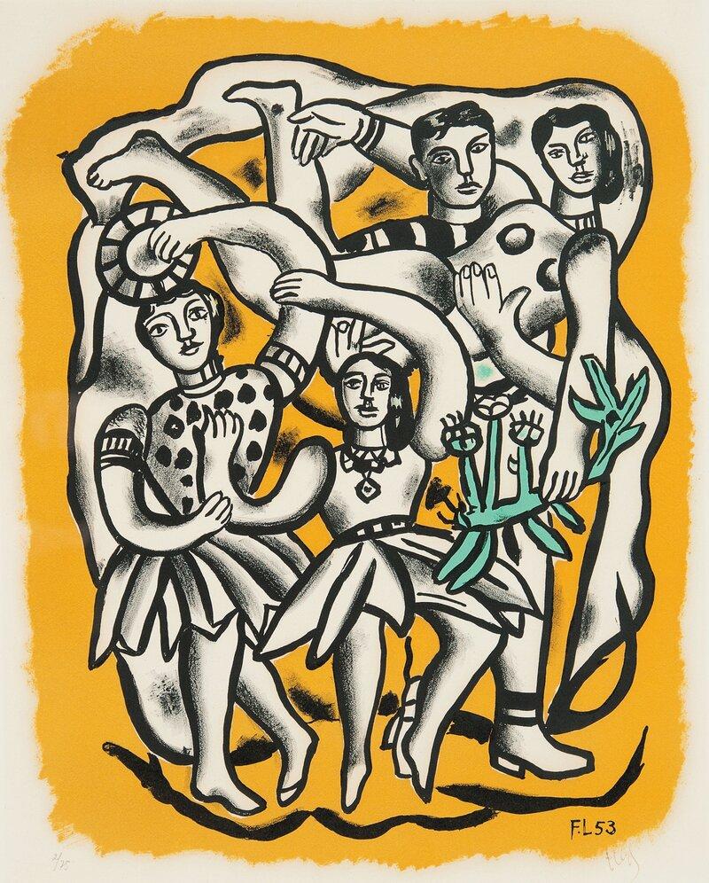 Les Danseuses (Fond Jaune) 1953