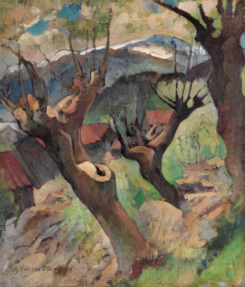 Landskap med hus 1929