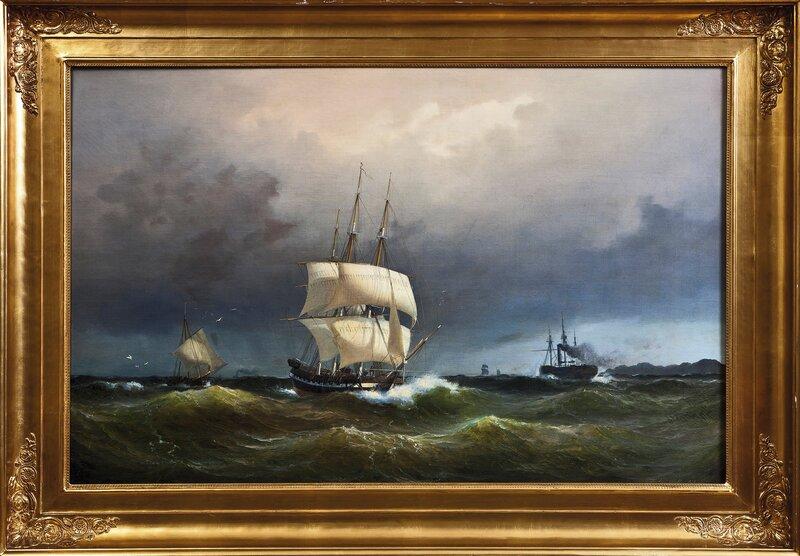 Seilskuter i rom sjø 1851