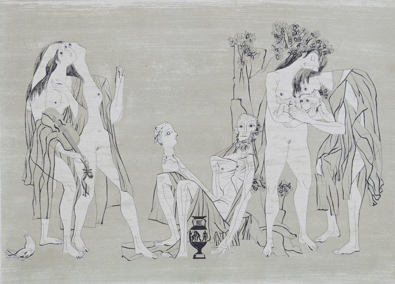 Tema (Utsnitt av frise I og II) 1951
