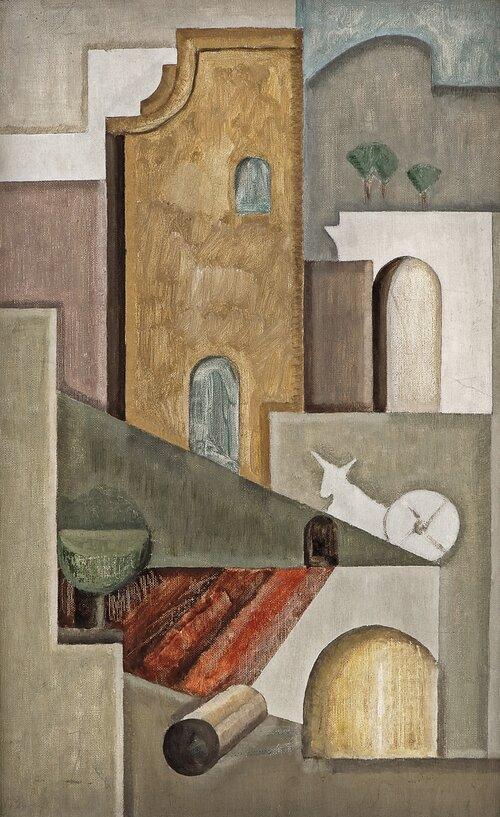 Komposisjon med arkitektur og esel. Fra Provence