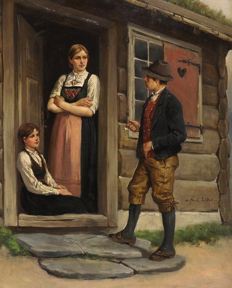 Samtale på dørtrammen