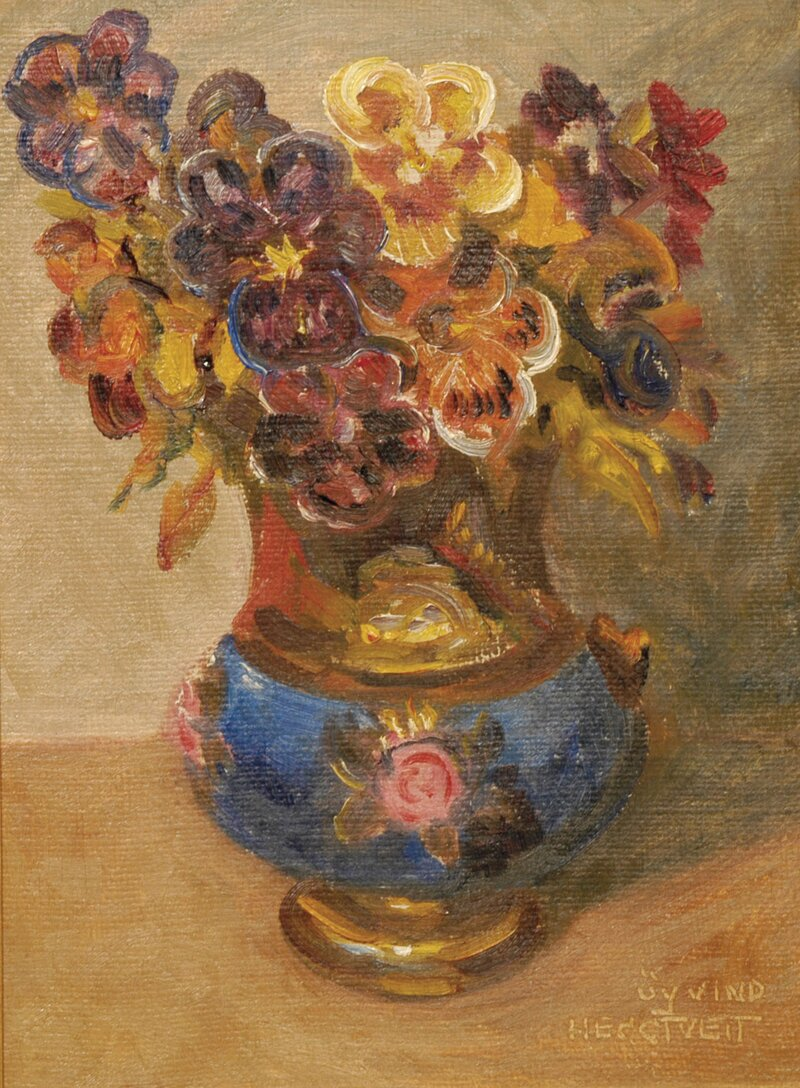Fioler i lustre-vase
