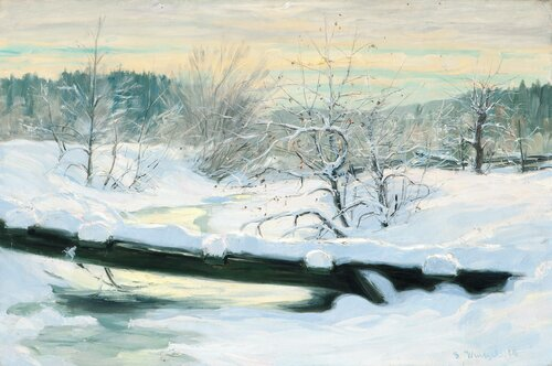 Winter Landscape from Asker 1910