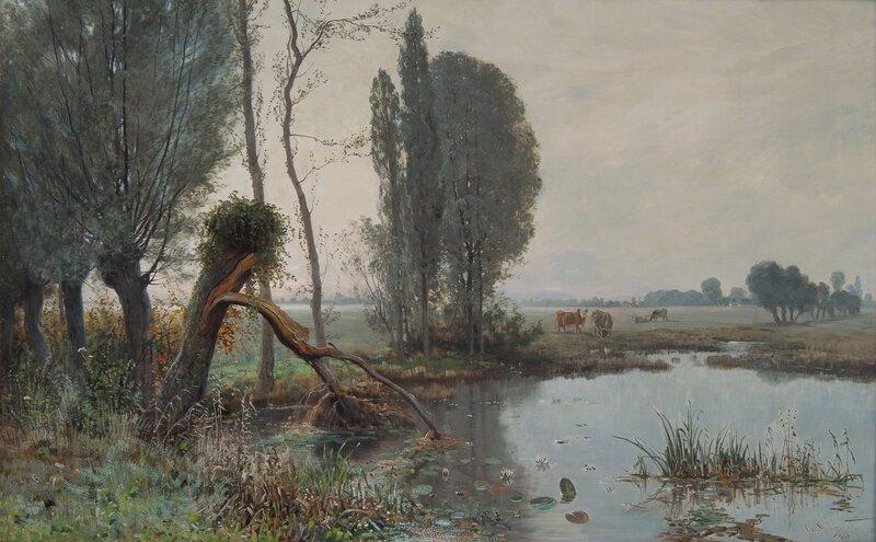 Landskap med kuer 1880