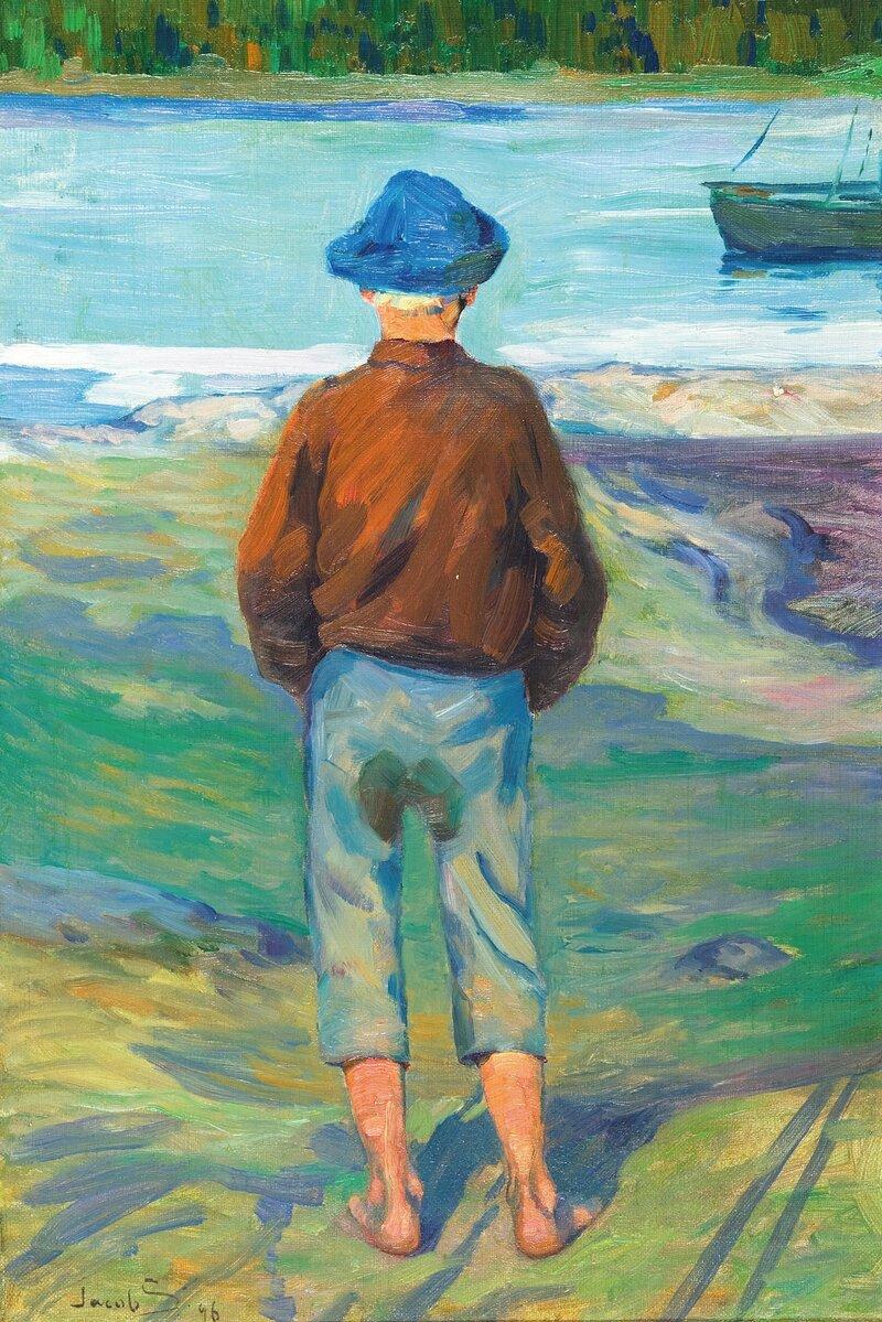 Ryggvendt gutt 1896