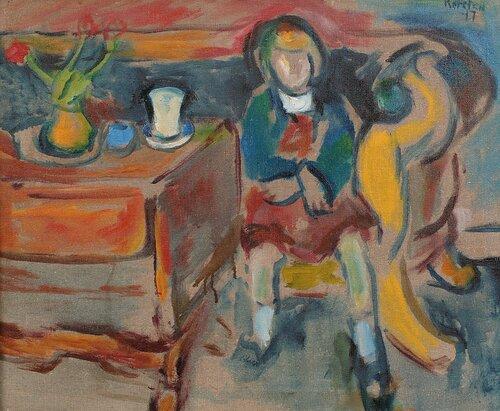Alise i sofaen 1917