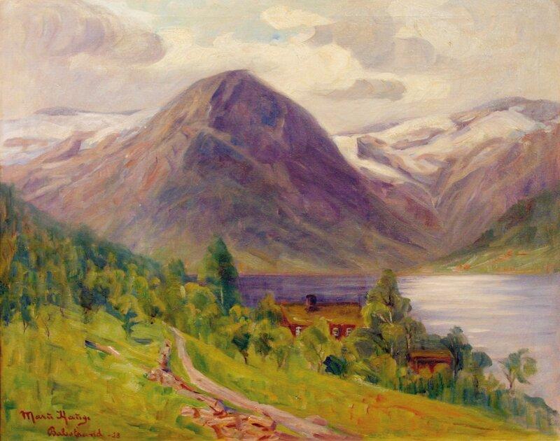 Fra Esefjorden ved Balestrand 1928