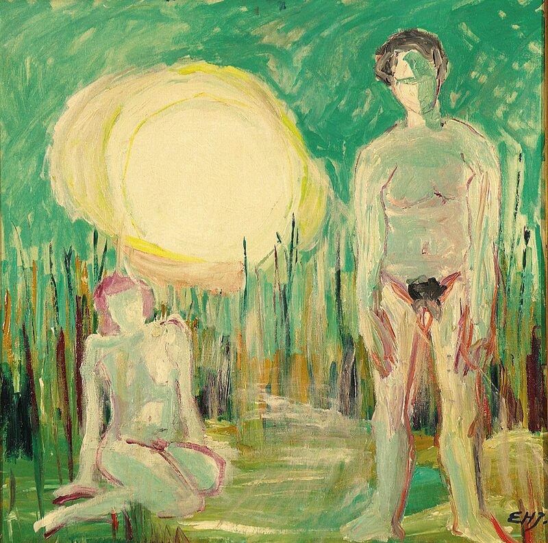 Kvinne og mann og sol