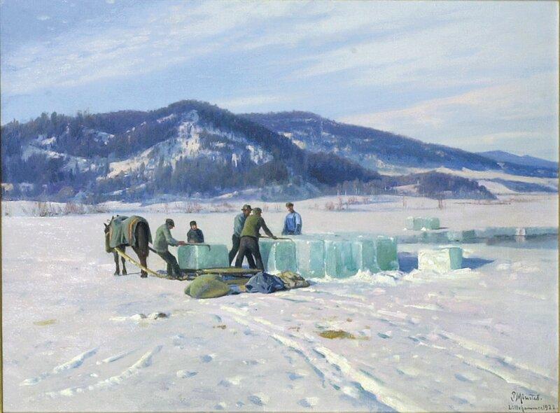 Isskjæring ved Lillehammer 1922