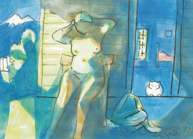 Kvinne og katt 1983