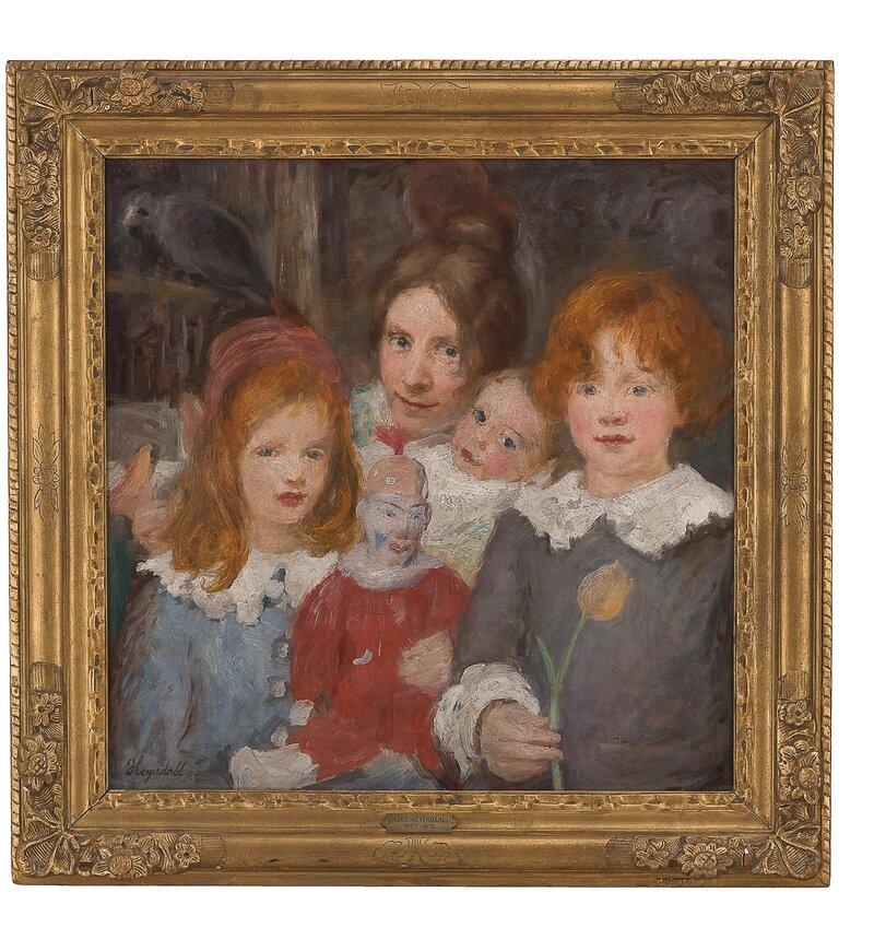 Gjøglerfamilie (barnebilde) 1904