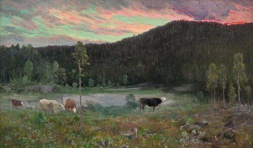 Aften på seteren 1893