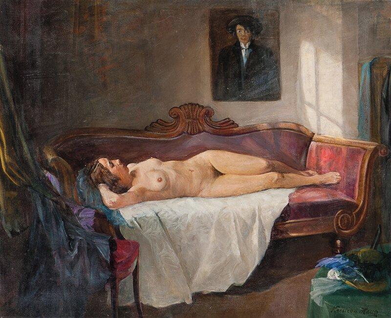 Kvinneakt i interiør