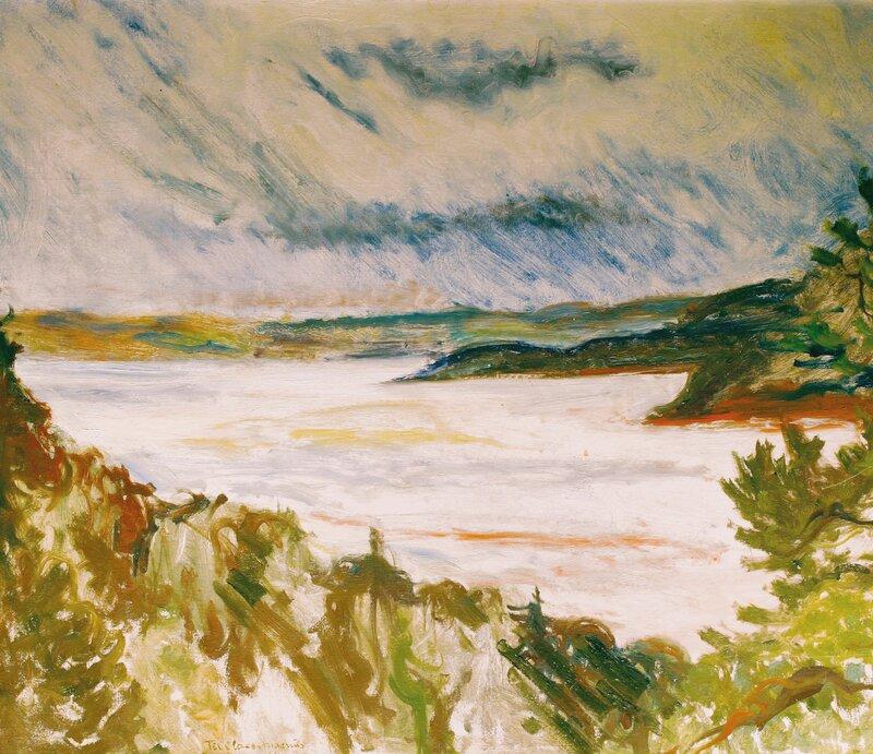 Tordenvær over Holmsbu 1934