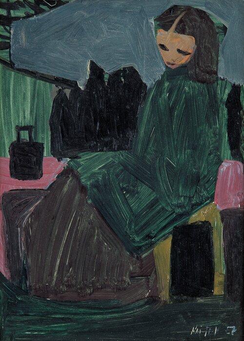 Sittende kvinne 1957