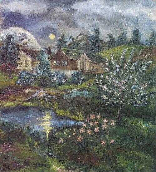 Vårnatt med fullmåne