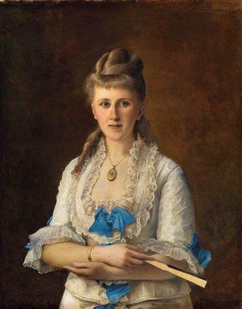 Kvinneportrett 1877