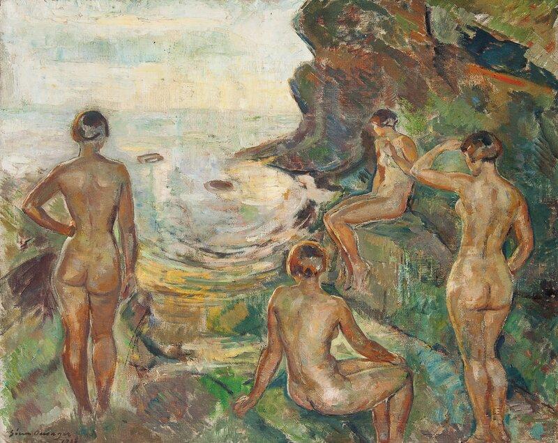 Kvinner ved sjøen 1933