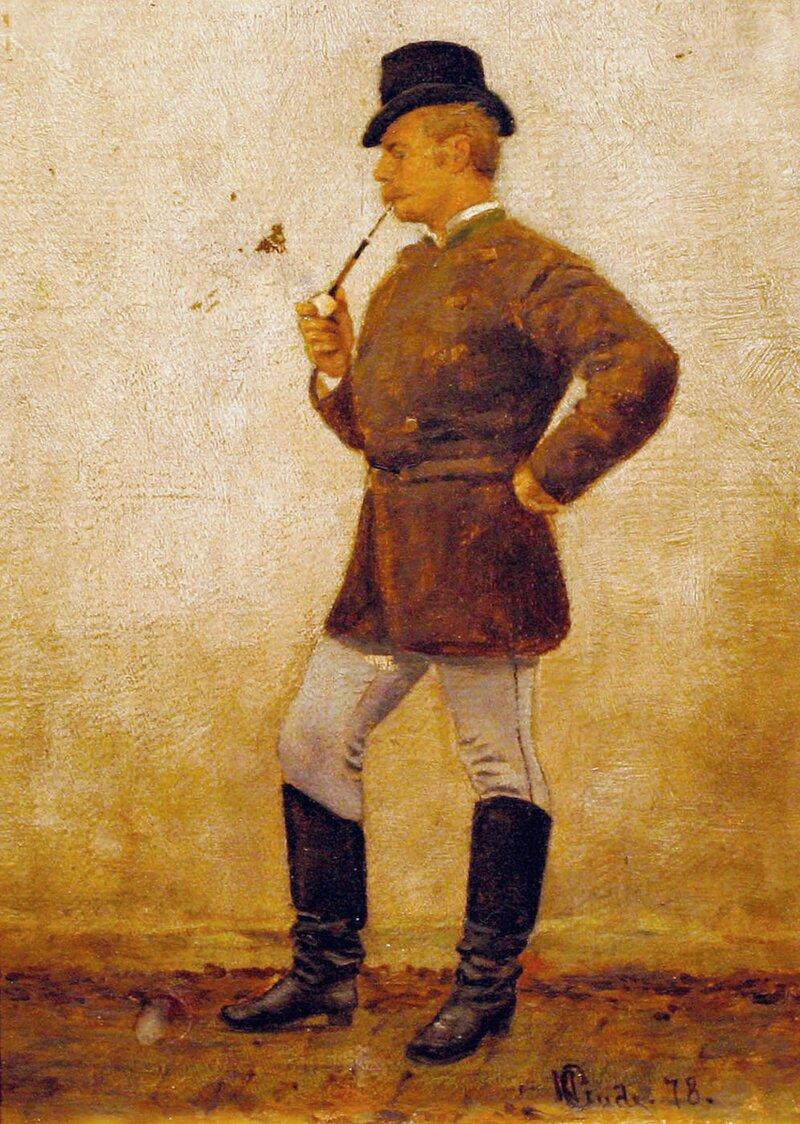 Mann med pipe 1878