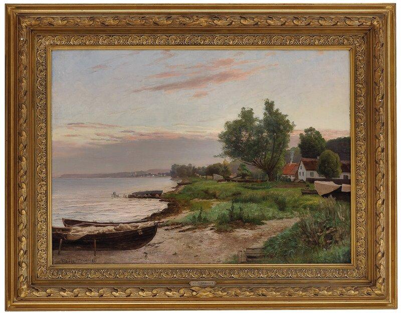 Fra Snekkersten, Øresund 1891