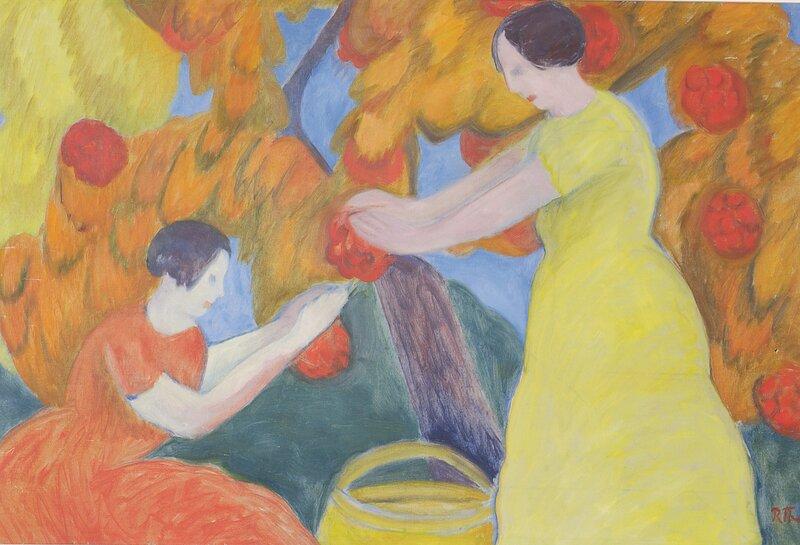 To kvinner som plukker frukt
