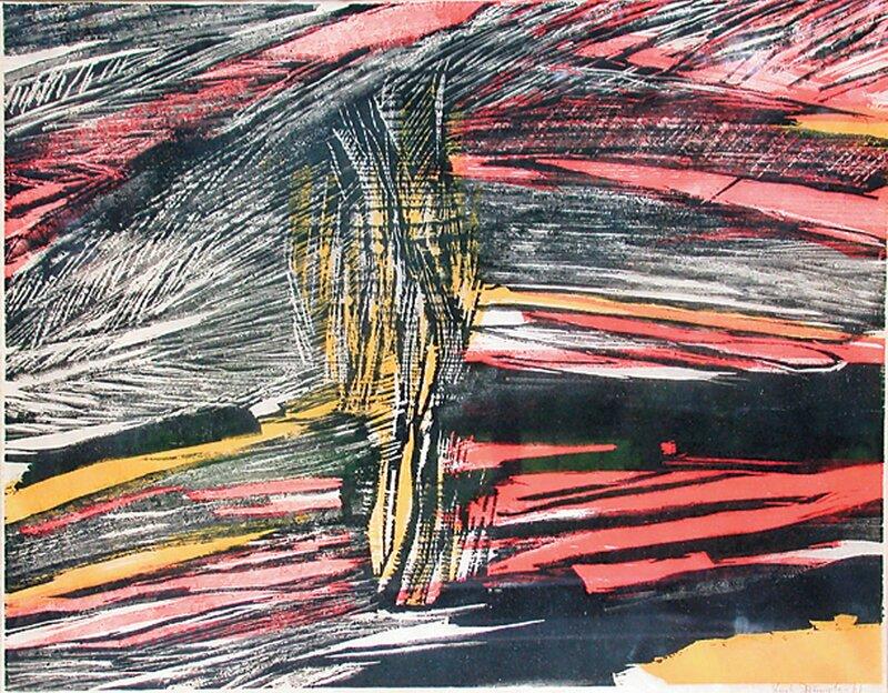 Komposisjon i svart, gult og rødt 1961