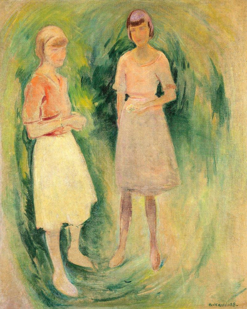To unge piker 1918