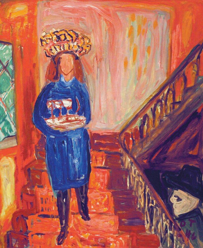Kvinne med brett 1946