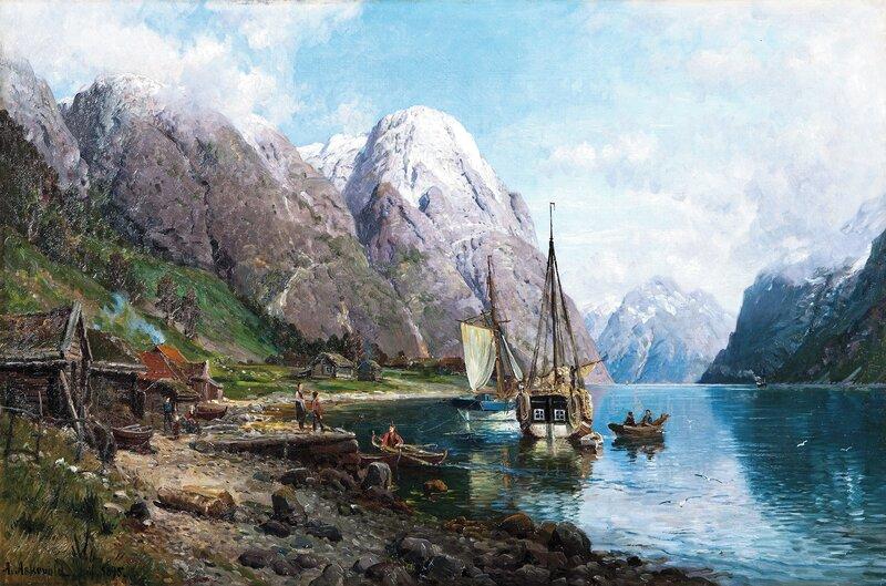 Fra en havn i Sognefjorden 1895