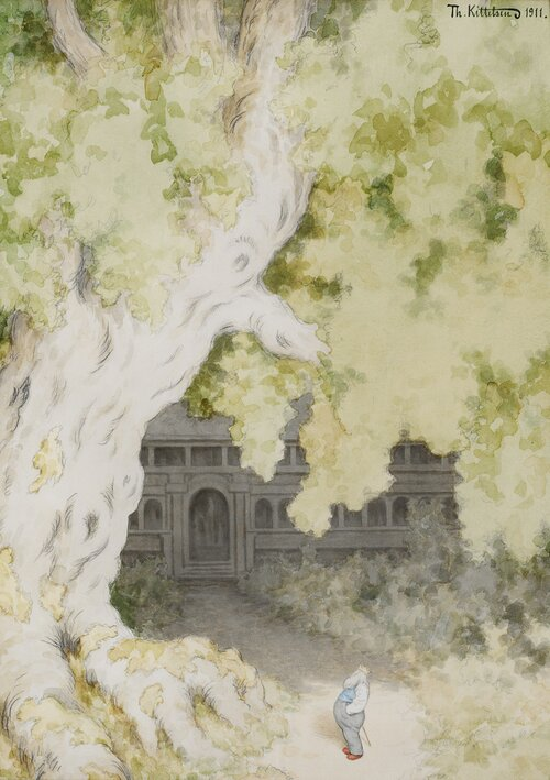 Den store eken utenfor kongsgården 1911