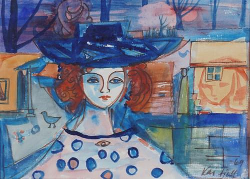 Kvinne med hatt 1969